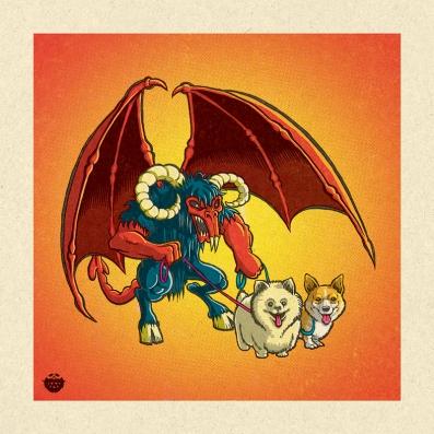 art_demon_dog_walker